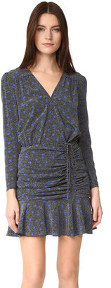 Veronica Beard Lou Lou Ruched Flounce Dress $495 thestylecure.com