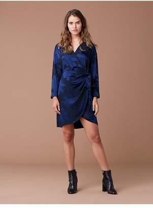 Diane von Furstenberg 3/4 Sleeve Mini Wrap Dress
