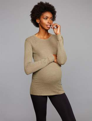 Monrow Pea Collection Star Embellished Maternity Top