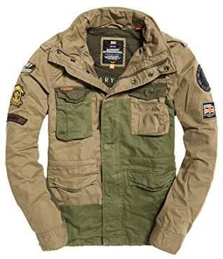 Superdry Men's Rookiemixedmilitaryjacket Coat