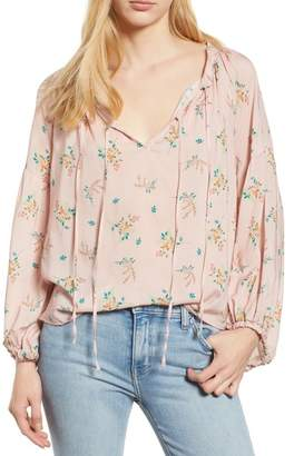 Velvet by Graham & Spencer Floral Peasant Blouse