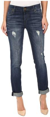 KUT from the Kloth Catherine Boyfriend Jeans in Allowing w/ Dark Stone Base Wash Women's Jeans