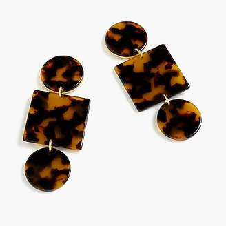 J.Crew Geometric tortoise earrings