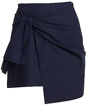 Derek Lam 10 Crosby Women's Tie Mini Wrap Skirt - Size 0