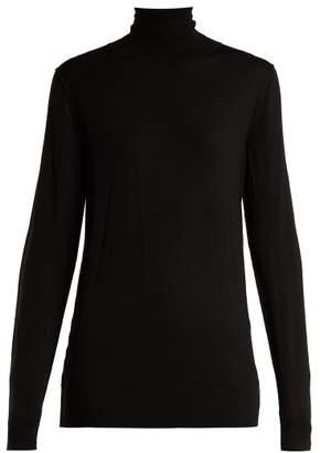 Dolce & Gabbana - Roll Neck Virgin Wool Sweater - Womens - Black
