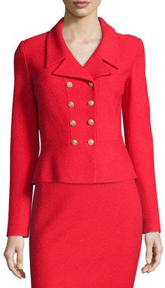St. John Collection Nouveau Boucle Knit Spencer Jacket, Granita $1,495 thestylecure.com