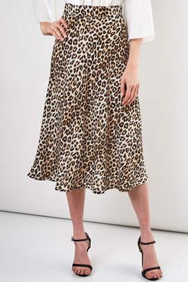 Do & Be Leopard Midi Skirt