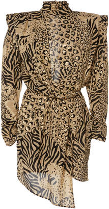 Dundas Gilded Leopard Print Dress