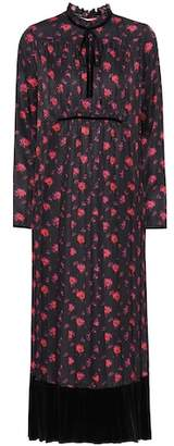 McQ Floral-printed silk midi dress