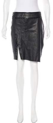 Armani Collezioni Knee-Length Leather Skirt