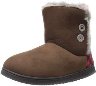 Dearfoams Women's Two-Button Winter Boot