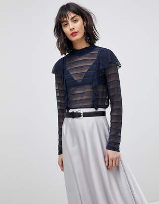 Vero Moda Sheer Stripe Blouse