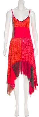 Jean Paul Gaultier Printed Mesh Dress