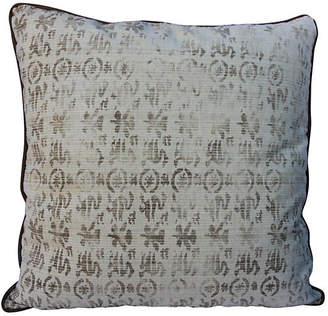 One Kings Lane Vintage Rose Tarlow Printed Linen Pillow