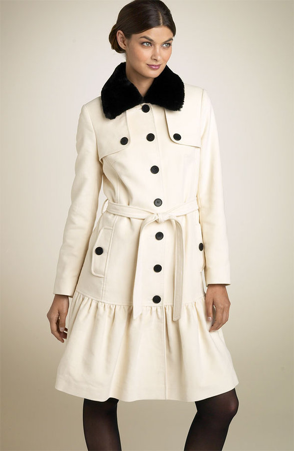 Helene Berman Sueded Cotton Trench Coat