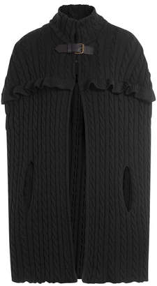 Philosophy di Lorenzo Serafini Wool Cable Knit Cape