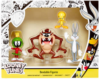 Looney Tunes Nj Croce 4 Piece Bendable Action Figure Boxed Set