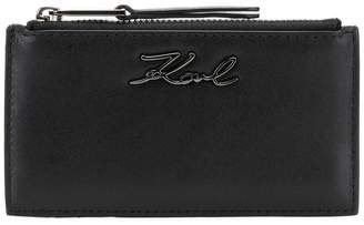 Karl Lagerfeld logo zipped wallet