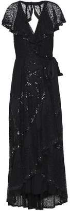 Temperley London Open-Back Sequin-Embellished Lace Midi Dress