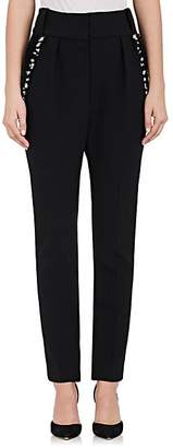 The Row Women's Searl Embellished Stretch-Wool Pants - Black