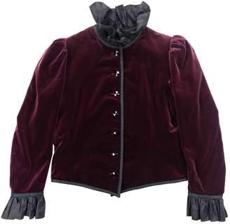 Saint Laurent Burgundy Velvet Jackets