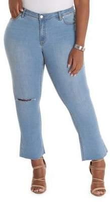 Anthony Logistics For Men LA LA Plus Cropped Flare Jeans