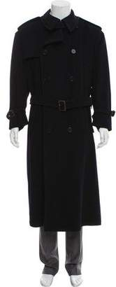 Ralph Lauren Purple Label Double-Breasted Cashmere Trench Coat
