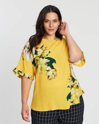 Evans Printed Shell Top