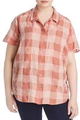 Lucky Brand Plus Plaid Button Down Shirt