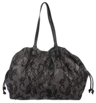 Valentino Lace Drawstring Bag Grey Lace Drawstring Bag