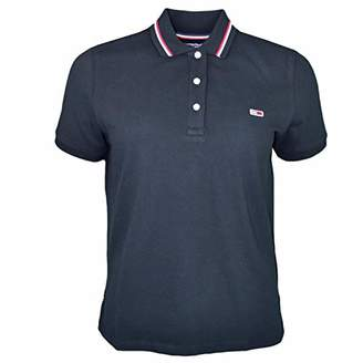Tommy Hilfiger Tommy Jeans Women's Polo Shirt Relaxed Fit Classics Collection