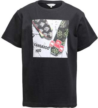 Kangaroo Poo Boys T-Shirt With Chest Print Black