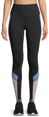 Alo Yoga Elevate Contrast-Panel Sport Leggings