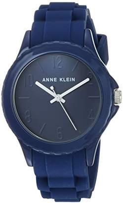 Anne Klein Women's AK/3241DBDB Dark Silicone Strap Watch
