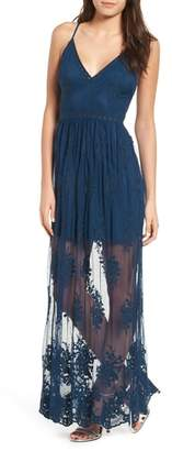 Socialite Embroidered Maxi Dress