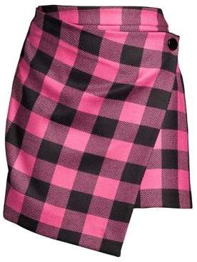 Milly Buffalo Check Mini Skirt
