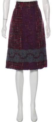 Dolce & Gabbana Wool Bouclé Skirt