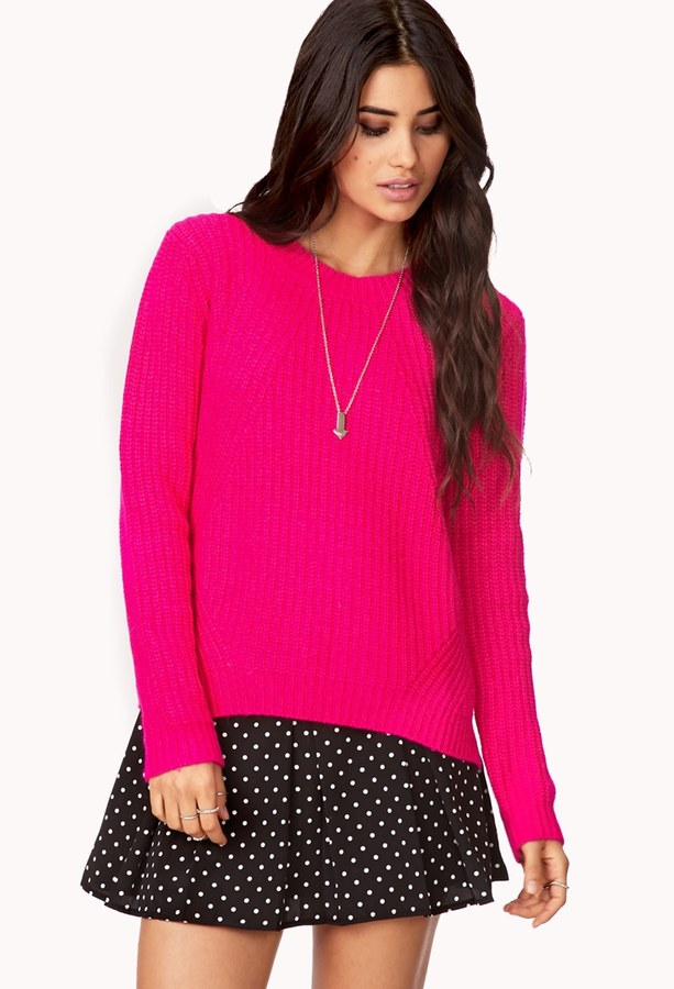 Forever 21 Fireside Cable Knit Sweater