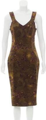 Michael Kors Floral Wool Dress