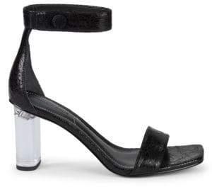 KENDALL + KYLIE Lexx Lucite Heel Sandals