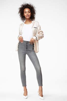 Natasha Sky-High Cropped Super Skinny In Pearl Grey