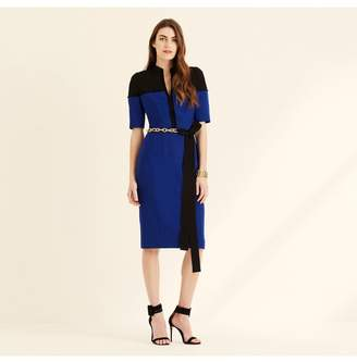 Amanda Wakeley Cobalt Colour Block Shift Dress