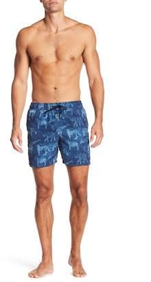 Jared Lang Elephant Print Swim Trunks
