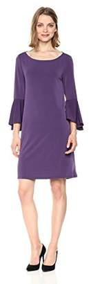 Jones New York Women's Bell SLV High Low Hem Easy Trapeze Dress
