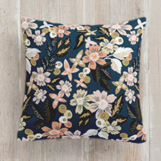 Midnight Florals Square Pillow