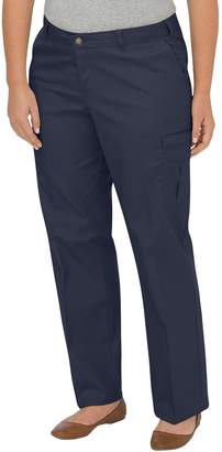 Dickies Womens Plus Size Premium Relaxed Straight Cargo Pants, 22W