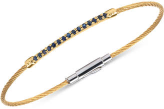 Charriol Women's Laetitia Blue Sapphire Accent Two-Tone PVD Stainless Steel Cable Bracelet