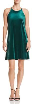 Aqua Velvet Shift Dress - 100% Exclusive