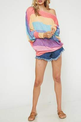 Fantastic Fawn Rainbow Colors Top