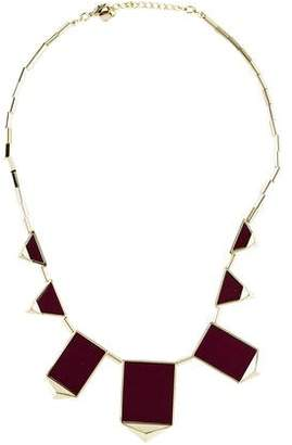 House Of Harlow Leather Collar Necklace